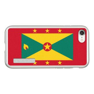 Funda DualPro Shine De Incipio Para iPhone 8/7 Bandera del caso de plata del iPhone de Grenada