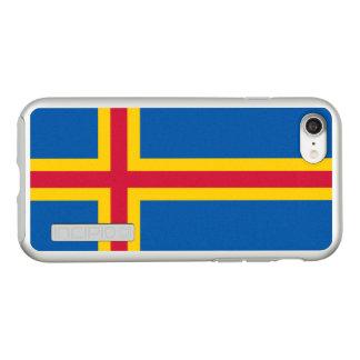 Funda DualPro Shine De Incipio Para iPhone 8/7 Bandera del caso de plata del iPhone de las islas