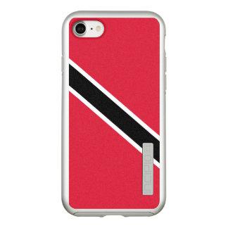 Funda DualPro Shine De Incipio Para iPhone 8/7 Bandera del caso de plata del iPhone de Trinidad