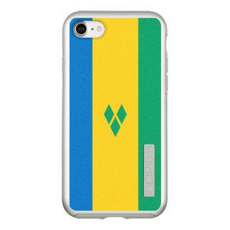 Funda DualPro Shine De Incipio Para iPhone 8/7 Bandera del caso de plata del iPhone de Vincent de
