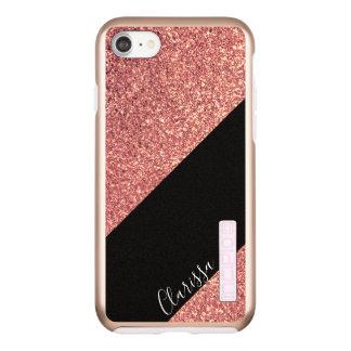 Funda DualPro Shine De Incipio Para iPhone 8/7 Negro subió polluelo moderno elegante del