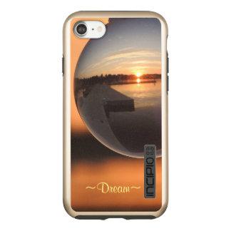 Funda DualPro Shine De Incipio Para iPhone 8/7 Puesta del sol sobre sueño de la bola de cristal