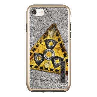 Funda DualPro Shine De Incipio Para iPhone 8/7 Triángulo amonestador de la radiación nuclear del