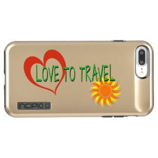 Funda DualPro Shine De Incipio Para iPhone 8 Plus/ Amor a viajar