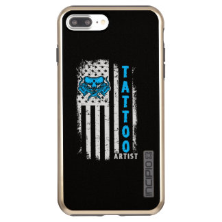 Funda DualPro Shine De Incipio Para iPhone 8 Plus/ Bandera americana de los E.E.U.U. con el artista