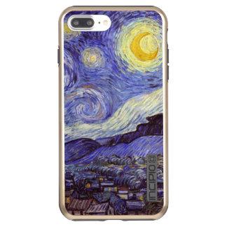 Funda DualPro Shine De Incipio Para iPhone 8 Plus/ Bella arte del vintage de la noche estrellada de