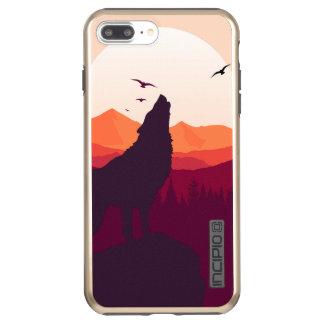 Funda DualPro Shine De Incipio Para iPhone 8 Plus/ Brillo más de DualPro del iPhone 7 del lobo, oro