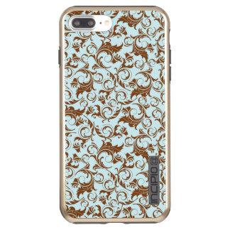 Funda DualPro Shine De Incipio Para iPhone 8 Plus/ Brillo más de DualPro del iPhone 7 florales, oro