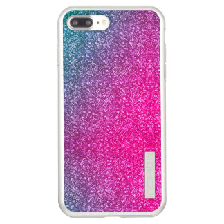 Funda DualPro Shine De Incipio Para iPhone 8 Plus/ Colorido brillante floral azul silenciado del rosa