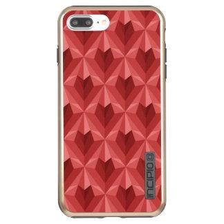 Funda DualPro Shine De Incipio Para iPhone 8 Plus/ Corazón del polígono