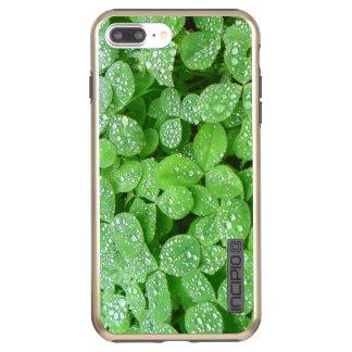 Funda DualPro Shine De Incipio Para iPhone 8 Plus/ Hoja del verde del rocío de la lluvia del resorte