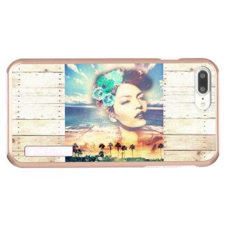 Funda DualPro Shine De Incipio Para iPhone 8 Plus/ Mujer costera del verano de las palmas de