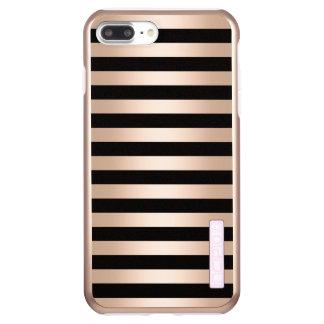 Funda DualPro Shine De Incipio Para iPhone 8 Plus/ Negro subió polluelo moderno elegante del oro