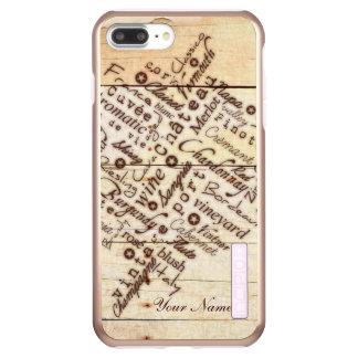 Funda DualPro Shine De Incipio Para iPhone 8 Plus/ Nombre de madera quemado rústico de la tipografía