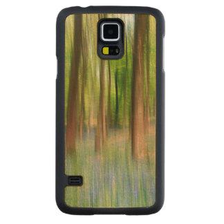 Funda Fina De Arce Para Galaxy S5 De Carved Arbolado BRITÁNICO del roble del Bluebell de