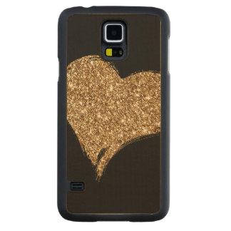 Funda Fina De Arce Para Galaxy S5 De Carved Corazón O'Gold