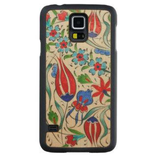 Funda Fina De Arce Para Galaxy S5 De Carved Diseño floral turco