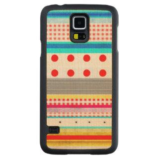 Funda Fina De Arce Para Galaxy S5 De Carved Diversión rayada de la guinga linda del modelo