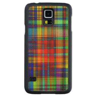Funda Fina De Arce Para Galaxy S5 De Carved El extracto colorido raya arte