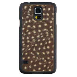 Funda Fina De Arce Para Galaxy S5 De Carved Guineafowl manchó el extracto de la pluma