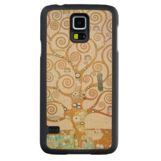 Funda Fina De Arce Para Galaxy S5 De Carved Gustavo Klimt el árbol del arte Nouveau de la vida