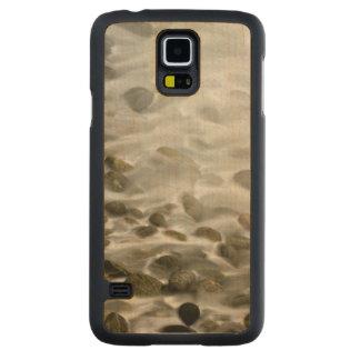 Funda Fina De Arce Para Galaxy S5 De Carved Reserva de piedra del estado de Lobos del punto de