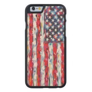 Funda Fina De Arce Para iPhone 6 De Carved Bandera americana