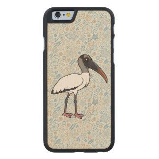Funda Fina De Arce Para iPhone 6 De Carved Cigüeña de madera de Birdorable