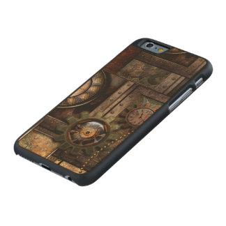 Funda Fina De Arce Para iPhone 6 De Carved Diseño maravilloso del steampunk