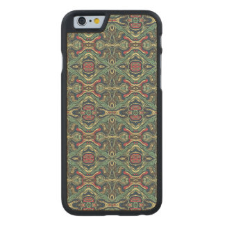 Funda Fina De Arce Para iPhone 6 De Carved Diseño rizado dibujado mano colorida abstracta del