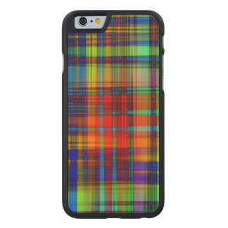 Funda Fina De Arce Para iPhone 6 De Carved El extracto colorido raya arte