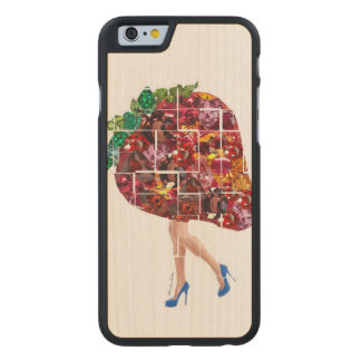 Funda Fina De Arce Para iPhone 6 De Carved Gemas de la fresa