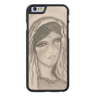 Funda Fina De Arce Para iPhone 6 De Carved Griterío de Maria