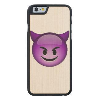 Funda Fina De Arce Para iPhone 6 De Carved Imp sonriente - Emoji
