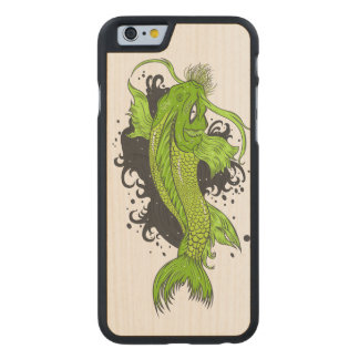 Funda Fina De Arce Para iPhone 6 De Carved Japonés colorido Koi