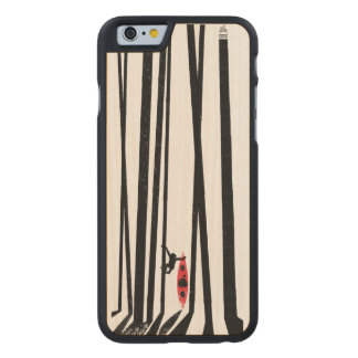 Funda Fina De Arce Para iPhone 6 De Carved Kajak, mono, bosque