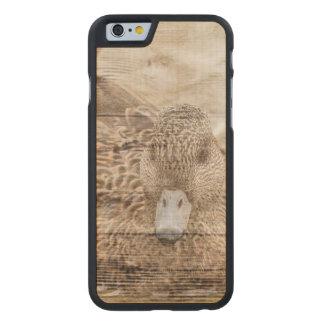 Funda Fina De Arce Para iPhone 6 De Carved Pato salvaje de la charca de la viruta de la casa
