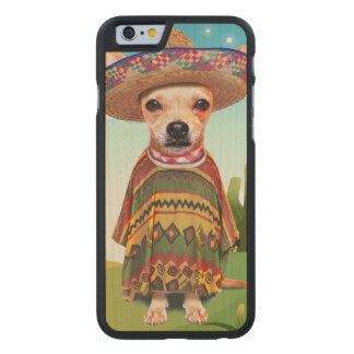 Funda Fina De Arce Para iPhone 6 De Carved Perro mexicano, chihuahua