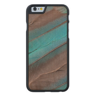 Funda Fina De Arce Para iPhone 6 De Carved Plumas del ala del martín pescador