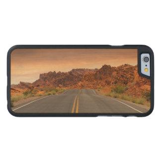 Funda Fina De Arce Para iPhone 6 De Carved Puesta del sol del viaje por carretera