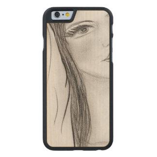Funda Fina De Arce Para iPhone 6 De Carved Saludo Maria