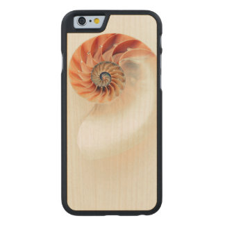Funda Fina De Arce Para iPhone 6 De Carved Shell de la vida