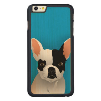 Funda Fina De Arce Para iPhone 6 Plus De Carved Arte del dogo - dogo francés