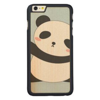Funda Fina De Arce Para iPhone 6 Plus De Carved caso del iPhone de la panda