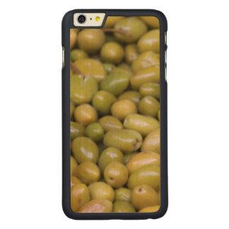 Funda Fina De Arce Para iPhone 6 Plus De Carved Ciérrese para arriba de aceitunas verdes