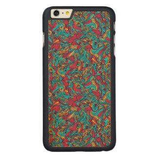 Funda Fina De Arce Para iPhone 6 Plus De Carved Diseño abstracto dibujado mano colorida del modelo
