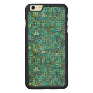 Funda Fina De Arce Para iPhone 6 Plus De Carved Diseño floral del modelo del extracto de la