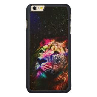 Funda Fina De Arce Para iPhone 6 Plus De Carved Espacie el león del _caseSpace del león - león