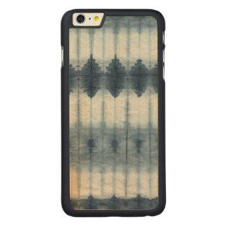 Funda Fina De Arce Para iPhone 6 Plus De Carved Impresión de Shibori Indigio