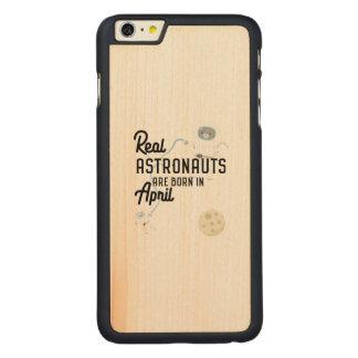 Funda Fina De Arce Para iPhone 6 Plus De Carved Los astronautas son en abril Zg6v6 nacidos